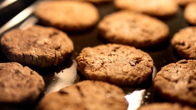 Cookies In The Oven Time Lapse Time lapse footage of chocolate chip cookies being baked in the oven. cookie stock videos & royalty-free footage