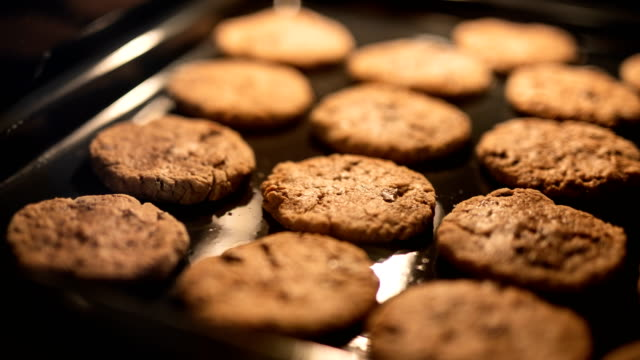 Cookies In The Oven Tasty cookies In The Oven Time Lapse. cookie stock videos & royalty-free footage