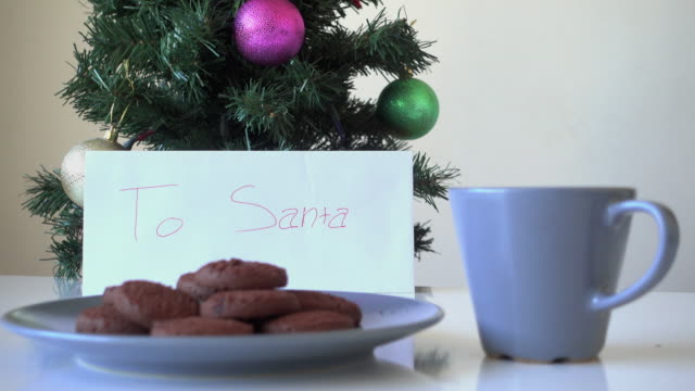Cookies left out for Santa Claus video