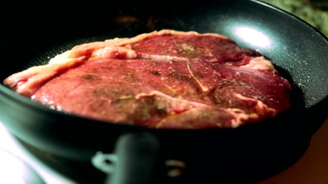 Cooking a Steak video