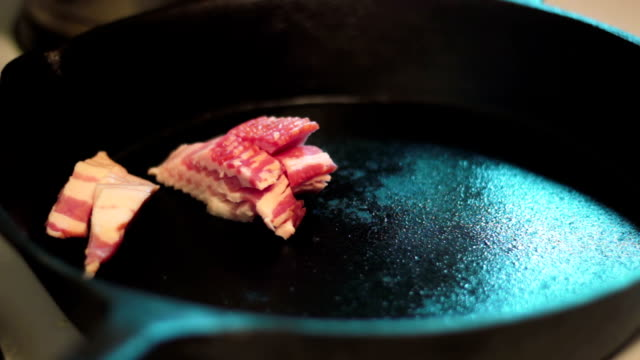 Cooking bacon video