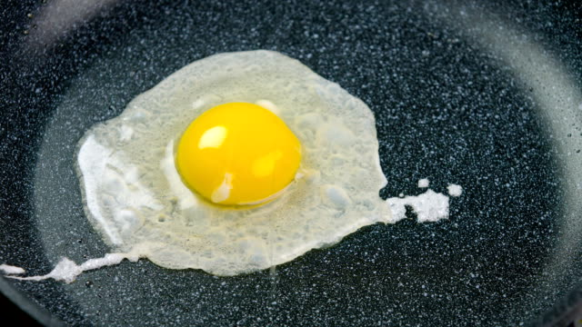 Cooking Egg Cooking Egg in a pan cooking pan stock videos & royalty-free footage