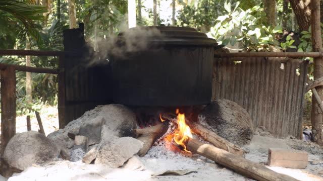 調理するお料理は、薪 - 薪点の映像素材/bロール