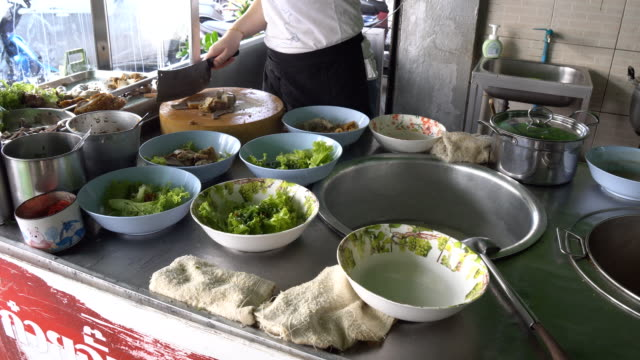 Cooking in Thai restaurant video