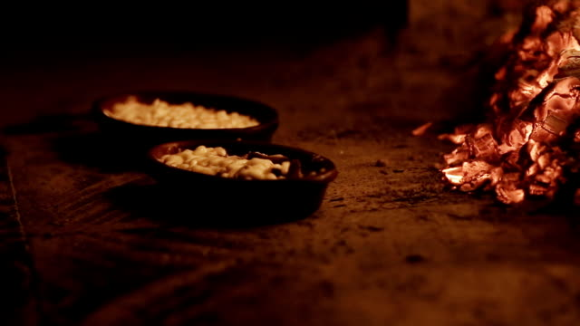 Cooking meal in a Stone Oven close up shot of oven firewood stock videos & royalty-free footage
