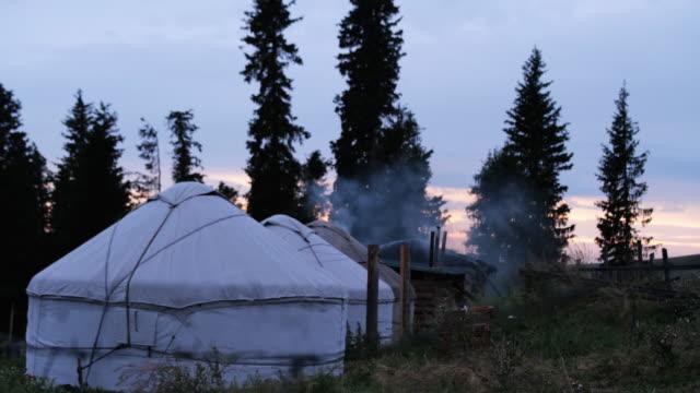 Cooking time at Kazakh houses and yurts, Xinjiang