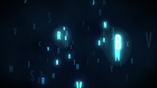 Cool neon Random Alphabets typographies [loop] Simple glowing. loop. alphabet stock videos & royalty-free footage