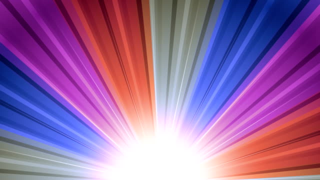 Cool Sunburst Rainbow Rays Retro sunburst backgrounds animations suited for broadcast, commercials and presentations. They can be used also in Celebration, Party and Birthday or New Year animations. {{relatedSearchUrl(carousel.phrase)}} stock videos & royalty-free footage