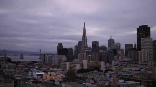 Cool sunrise time lapse of San Francisco video
