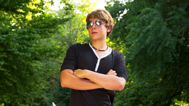 MS DS Cool Teenage Boy With Sunglasses video