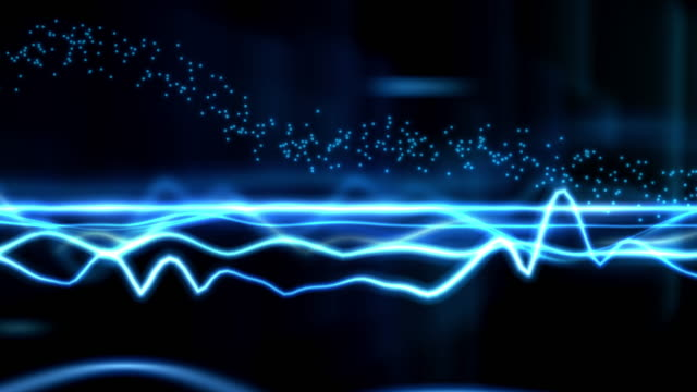 cool wave blue sound beat wave. wave pattern stock videos & royalty-free footage