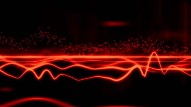 クールな波赤 - 音波点の映像素材/bロール