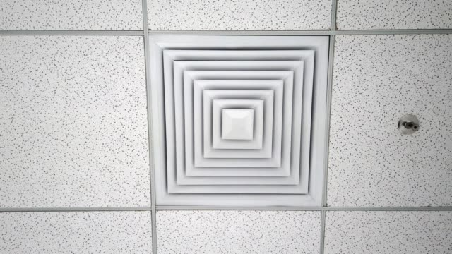 cooling air vents - soffitto video stock e b–roll