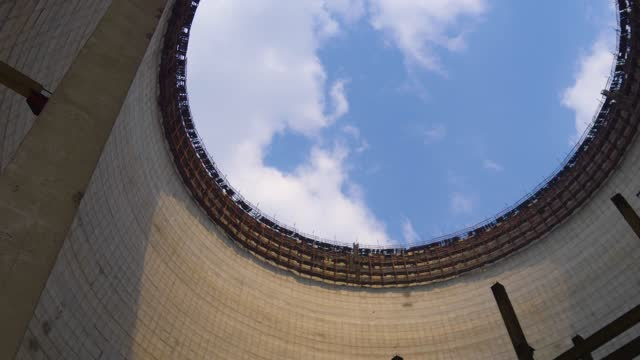Cooling tower of Chernobyl Nuclear Power Station video