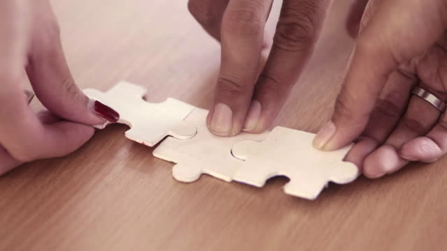 cooperation - мозаика стоковые видео и кадры b-roll