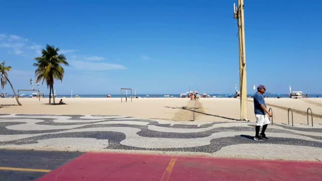 コパカバーナビーチ、リオデジャネイロ州 - コパカバーナ海岸点の映像素材/bロール