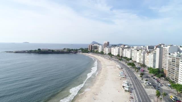 コパカバーナビーチ、リオデジャネイロ - コパカバーナ海岸点の映像素材/bロール