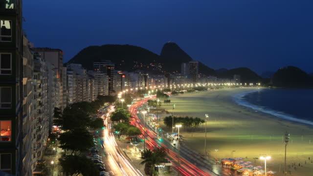 Copacabana Beach Time Lapse in Rio de Janeiro video