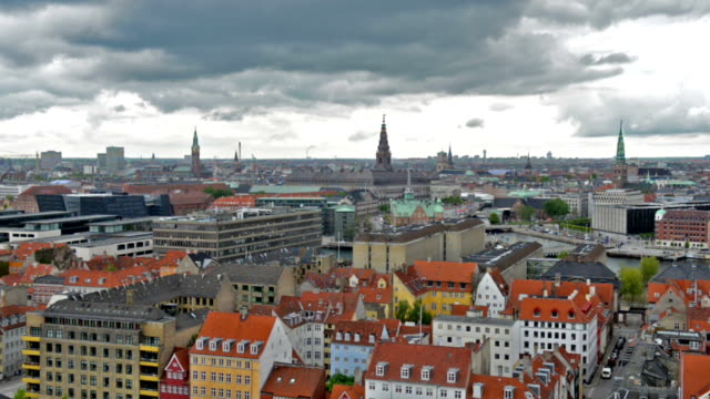 Copenhagen aerial view time lapse video