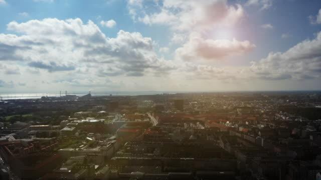 copenhagen cityscape - danimarca video stock e b–roll