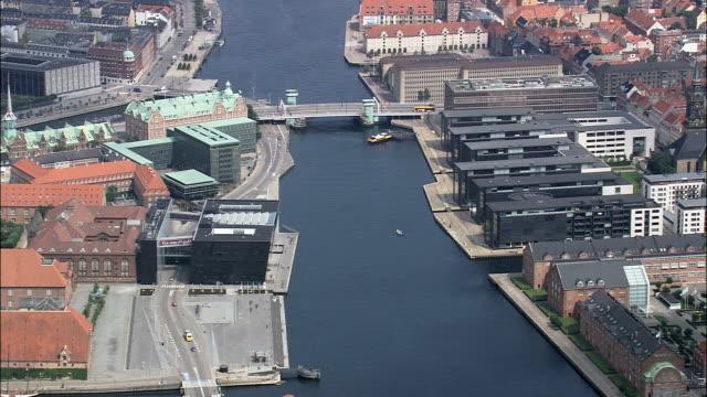 Copenhagen - Det Kongelige Bibliotek  - Aerial View - Capital Region, Copenhagen municipality, Denmark video