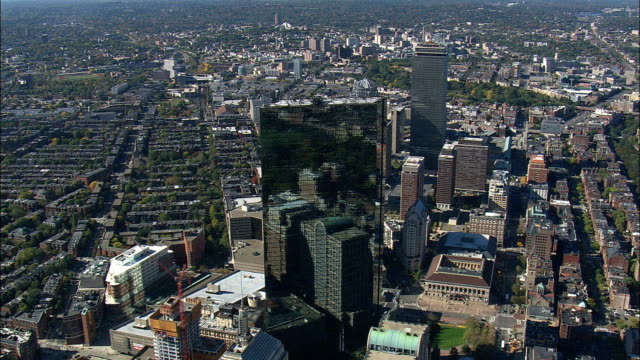 Copley Square District  - Aerial View - Massachusetts,  Suffolk County,  United States video