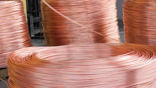 Copper and Aluminium Cable Factory Machines Copper and Aluminium Cable Factory Machines copper stock videos & royalty-free footage