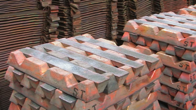 copper bars raw material, copper bars in metal factory copper stock videos & royalty-free footage