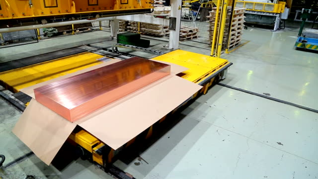 copper sheet cutting line copper sheet cutting line copper stock videos & royalty-free footage