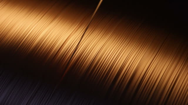 Copper Wire Rotating reel in a wire factory. copper stock videos & royalty-free footage