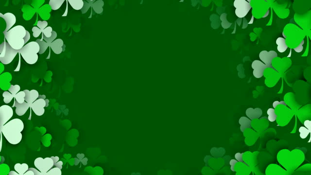 Copy Space, Circles of Shamrocks for St. Patrick's Day (Loopable) video
