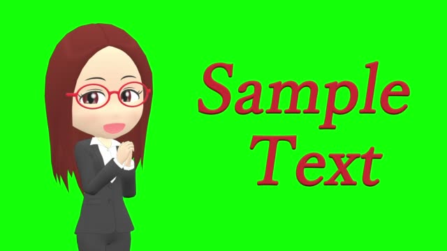 [Copy Space Rejoice D] Woman suit straight Japanese woman character fabric swatch stock videos & royalty-free footage