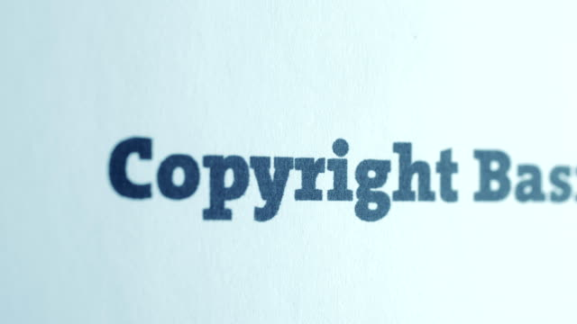 copyright basics text dolly shoot - proibizione video stock e b–roll