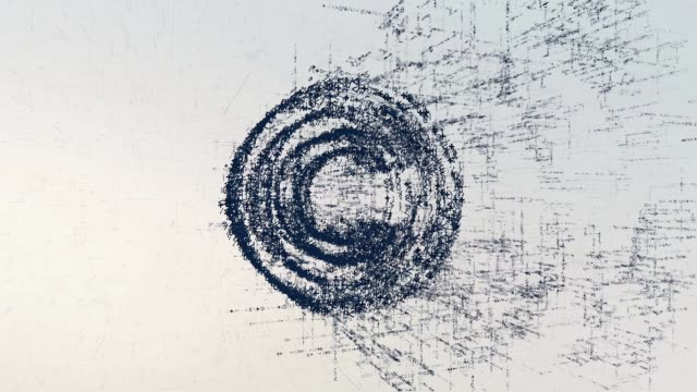 copyright logotyp, en design som består av en kod med siffror och en symbol. abstrakta copyright symbolen i cyber datornätverk på ljus bakgrund - logotyp bildbanksvideor och videomaterial från bakom kulisserna