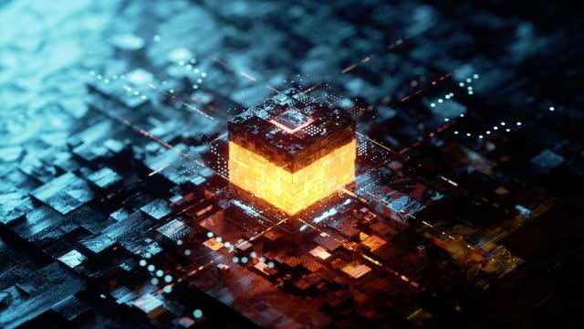 kernzündung - blockchain stock-videos und b-roll-filmmaterial