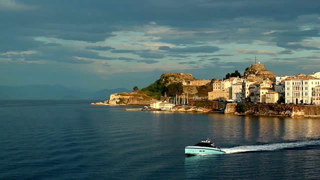 Corfu at sunset