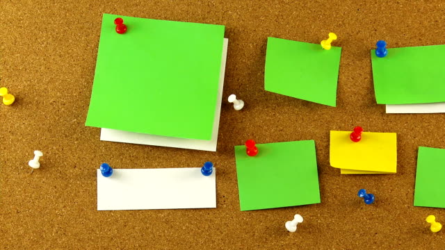 Corkboard with blank notes