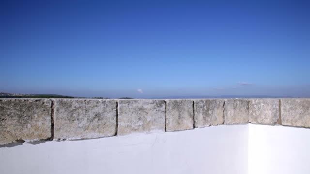 Corner of flat villa roof video