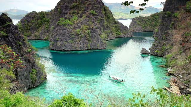 Coron island lagoon video