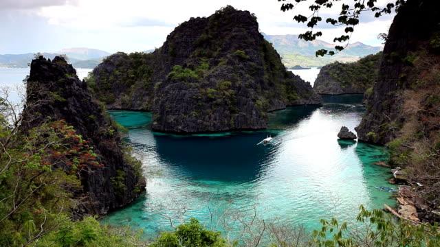 Coron lagoon landscape video