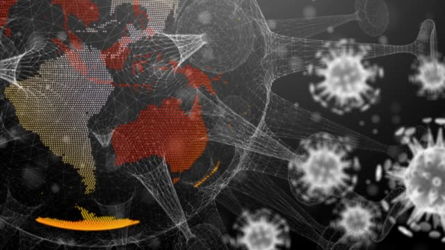 Corona virus background, The framework of the corona virus.