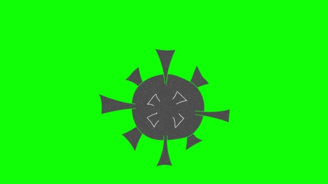 corona virus hand drawn green screen. floating loop animation corona virus hand drawn green screen animation covid icon stock videos & royalty-free footage