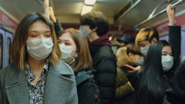 Coronavirus. 2019-ncov, Covid-19. People Public Mask. Environment Air Pollution. video
