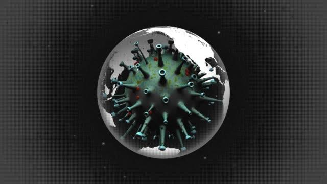 3d冠狀病毒和地球 - 危機 個影片檔及 b 捲影像