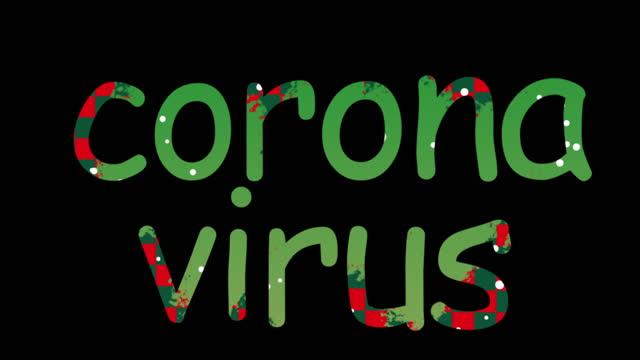 4K Coronavirus (covid-19) animated comic text