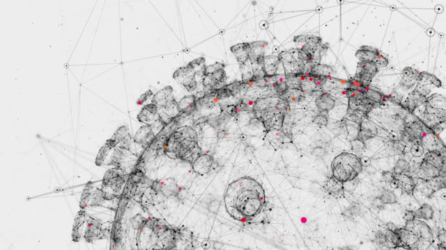 コロナウイルス細胞 - ウイルス対策ソフト点の映像素材/bロール
