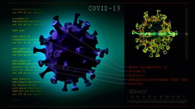 Coronavirus disease. 3D model COVID-19 video