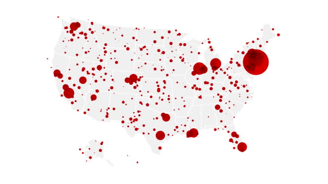 Video Coronavirus map of the US: cases state by state