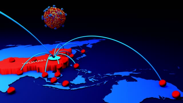 Video Coronavirus Map, Tracking the Spread of the Outbreak in the world map