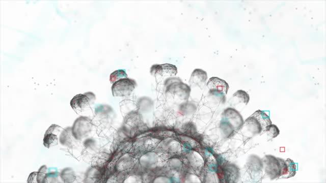coronavirus - covid-19 moleküler stok video -sars-cov-2 - covid testing stok videoları ve detay görüntü çekimi